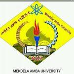 Mekdela Amba University Job Vacancy